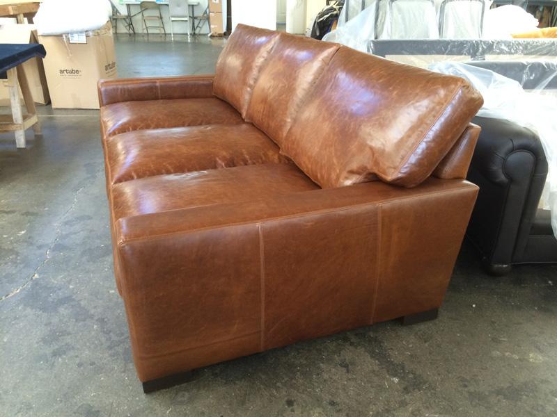 Braxton Leather Sofa Custom Dimensions 98 X 48 The